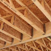 Open joist triforce joists national lumber co eshowroom for Open web floor joists